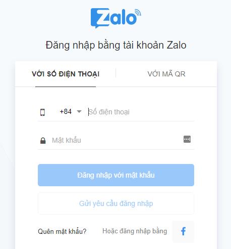 Cách đăn nhập Zalo trên web