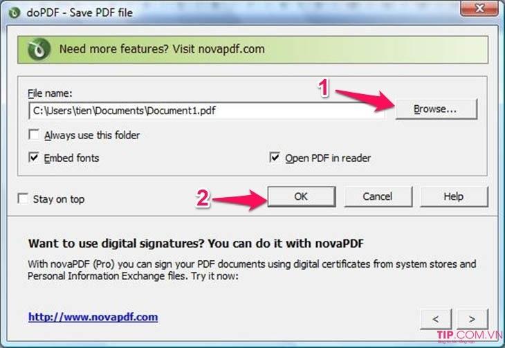 Cách chuyển file word sang pdf miễn phí