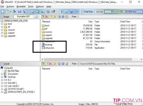 Cách mở file iso