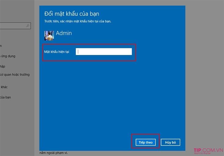 Cách cài đặt mật khẩu cho máy tính