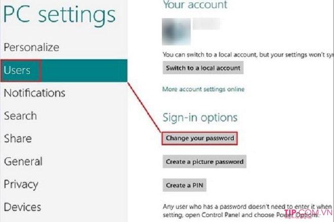Cách đổi mật khẩu máy tính