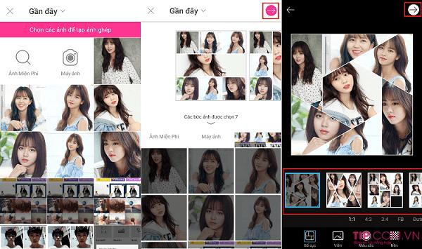 Hướng dẫn cách ghép nhiều ảnh thành 1 ảnh trên điện thoại Android, iPhone, iPad