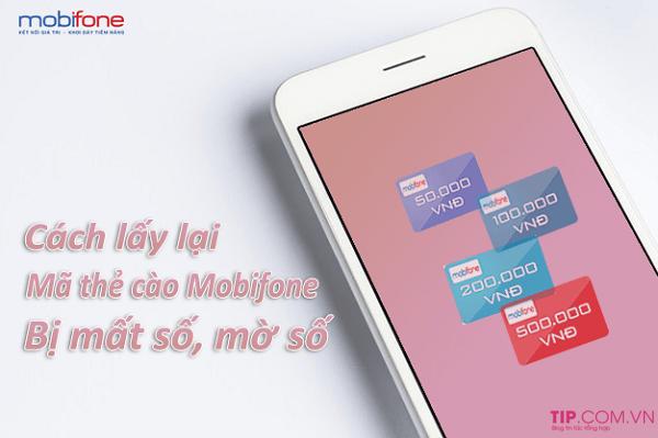 Cách lấy lại mã số thẻ cào Mobifone bằng số Seri bị mất số mờ số