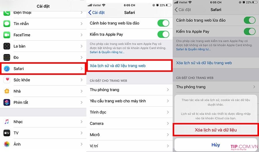 Cách xoá lịch sử web trên Safari cho iPhone, iPad, Macbook siêu đơn giản