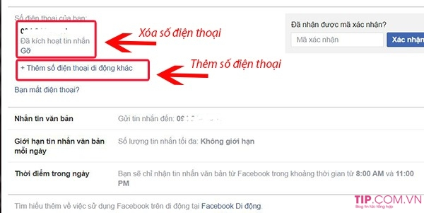Cách đổi số điện thoại trên facebook, cách xoá số điện thoại facebook
