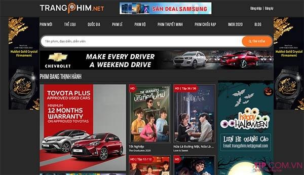 Tổng hợp các trang web xem phim online chuẩn HD chất lượng cao miễn phí