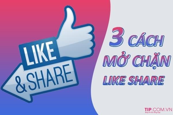 Hướng dẫn cách mở chặn Like Share Comment Facebook