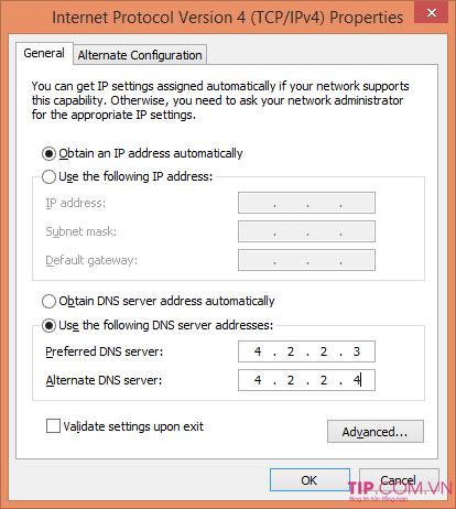 Đổi DNS để vào Facebook khi bị chặn trên Windows