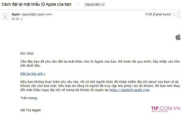 Cách lấy lại mật khẩu ID Apple khi bị quên hoặc bị mất Pass