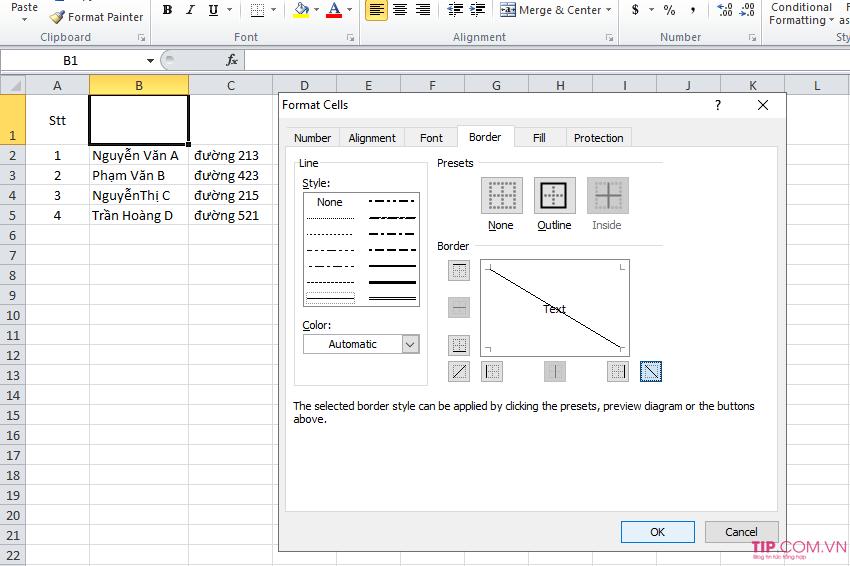 Cách chia cột trong Excel, cách tách 1 ô thành 2 ô trong Excel