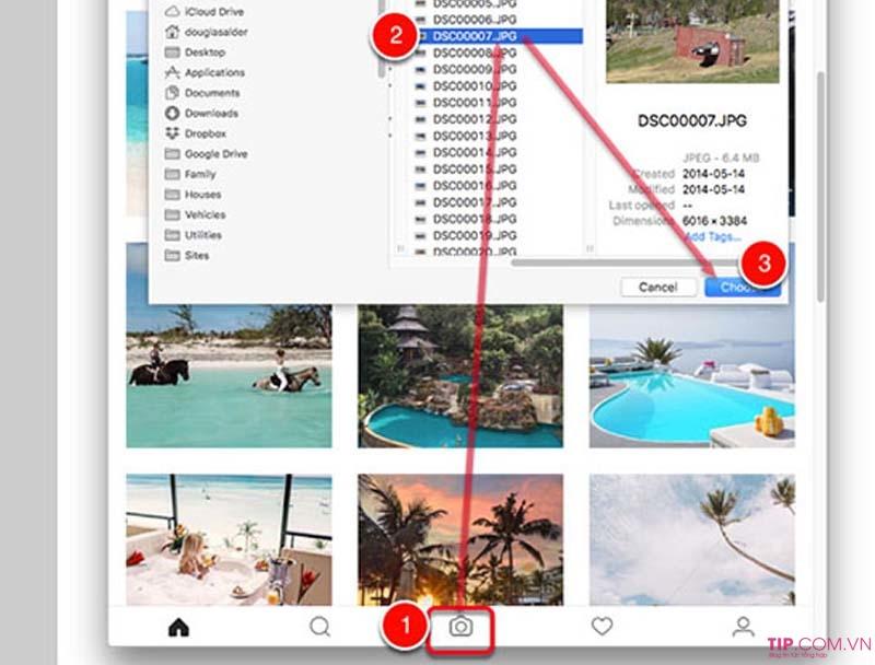 Cách đăng ảnh lên instagram bằng máy tính ảnh rõ nét, không bị cắt