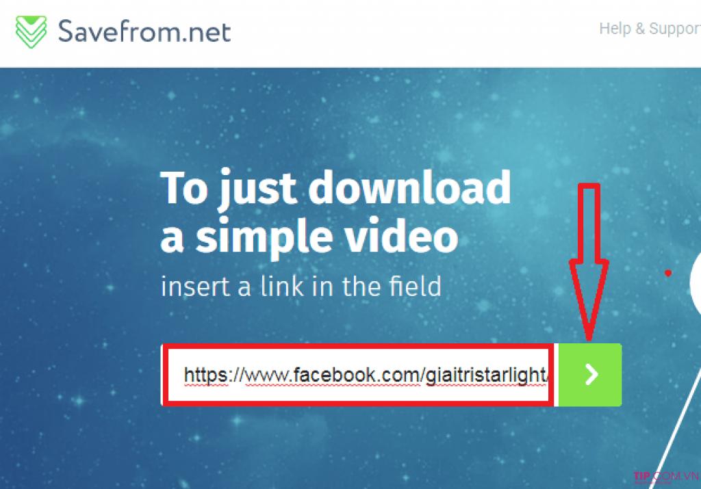 Tải video Facebook bằng Savefrom.net