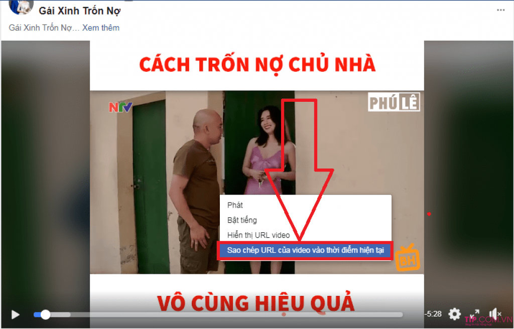 Download video Facebook bằng dụng công cụ Getfvid online