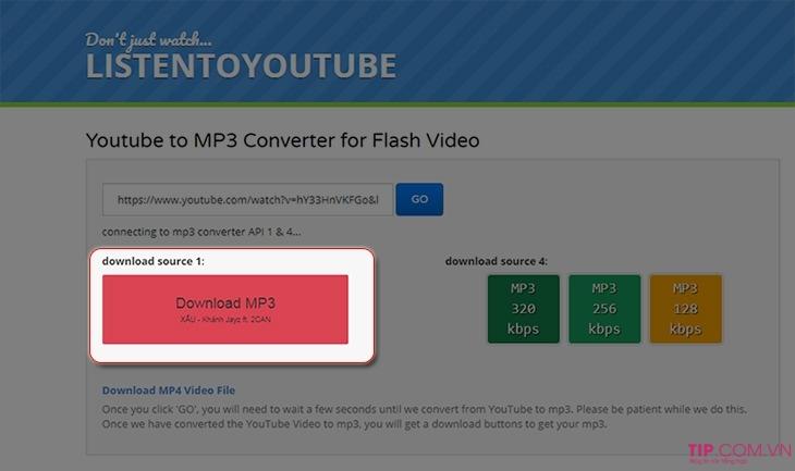 Cách tải nhạc MP3 từ video trên Youtube: Tách nhạc từ Video Youtube sang MP3