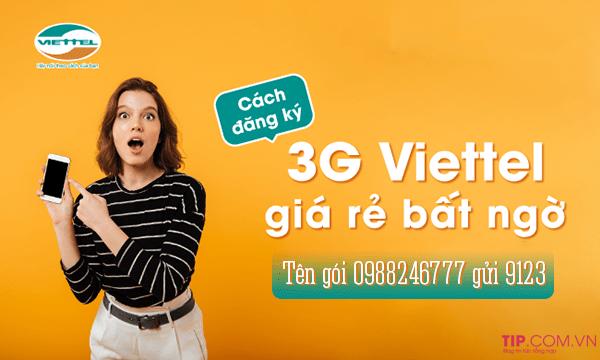 Cách đăng ký 3G Viettel 1 tháng, 1 năm Nhận Data Khủng Mới Nhất 2020