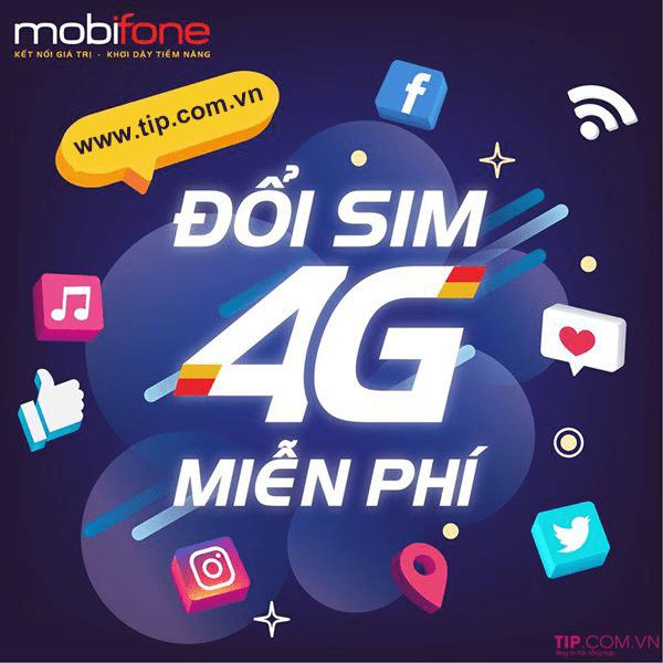 Cách đổi sim 4G Mobifone miễn phí mới nhất