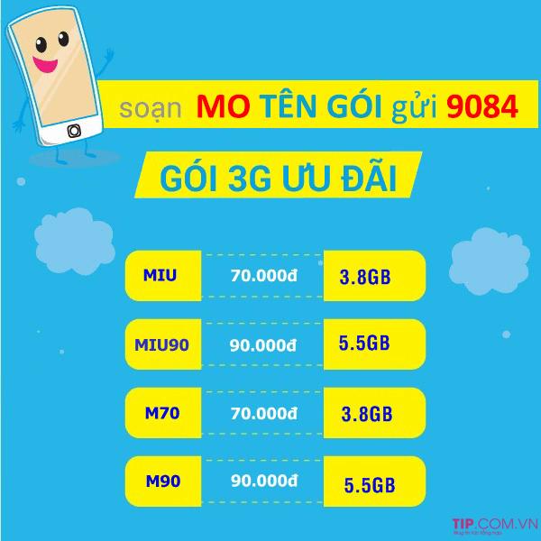 Danh sách gói cước 3G Mobifone tháng, năm Giá Rẻ DATA Khủng nhất 2020