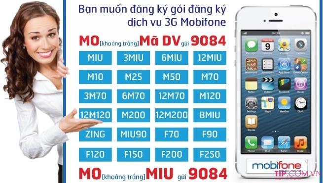 Các gói cước 3G Mobifone trọn gói không giới hạn dung lượng mới nhất 2020