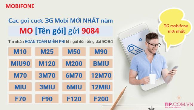 Danh sách các gói cước 3G Mobifone giá rẻ theo tháng, năm mới nhất