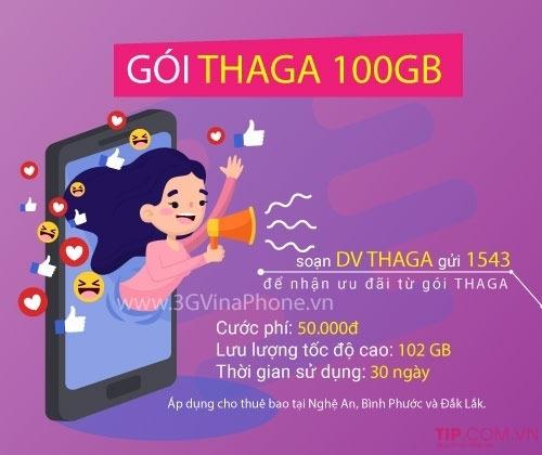 Nhận 102GB data chỉ 50k/tháng khi đăng ký THAGA Vina690 Vinaphone
