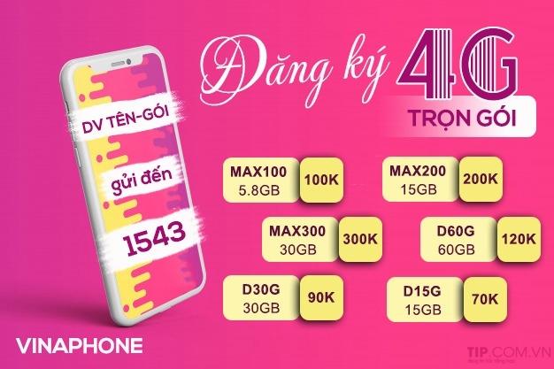 Ưu đãi 30GB data tốc độ cao chỉ 300k khi đăng ký MAX300 của Vinaphone