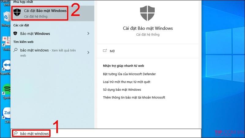 Tăng tốc win 10 bằng cách tắt Windows Defender