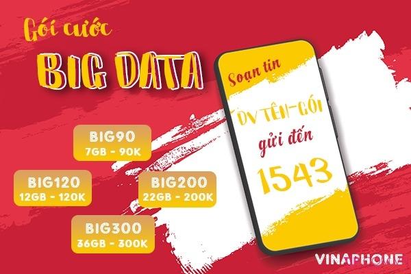 Ưu đãi 7GB data chỉ 70k/tháng khi đăng ký gói BIG90 Vinaphone