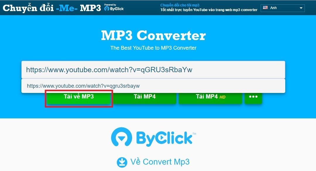 Cách tải file MP3 từ Youtube trực tuyến không cần cài phần mềm