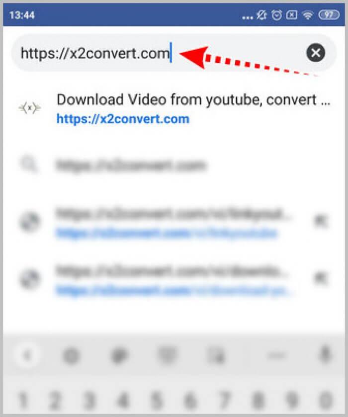 Tải mp3 từ youtube bằng Công cụ X2convert