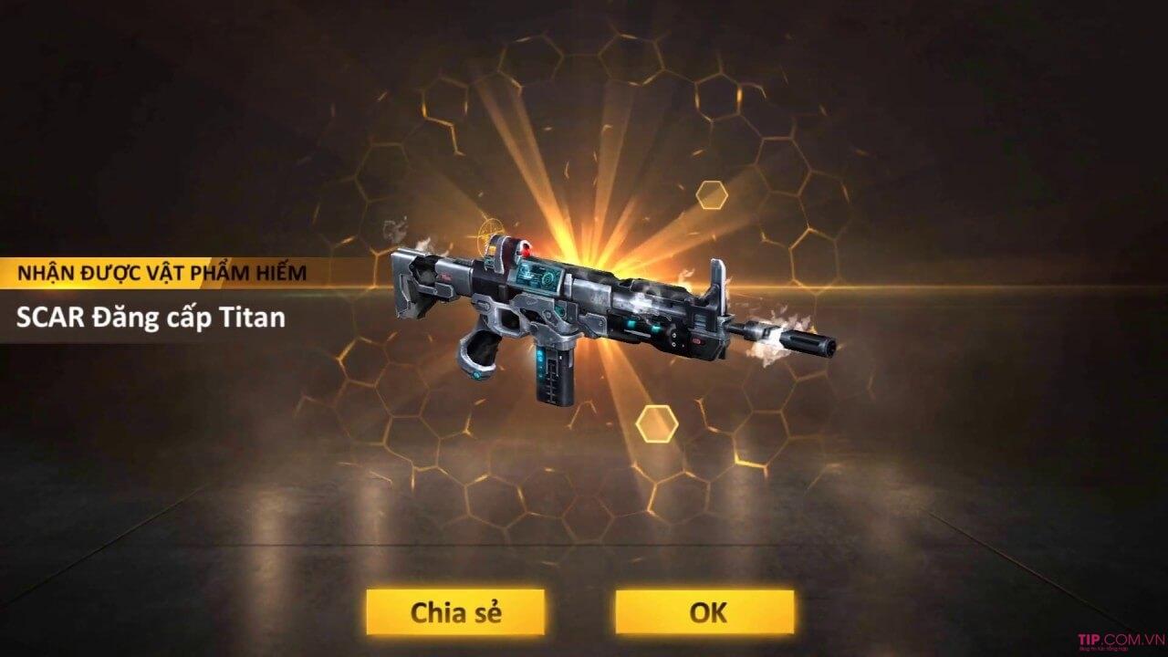 Bộ Gift Code FF Scar Titan Free Fire duy nhất