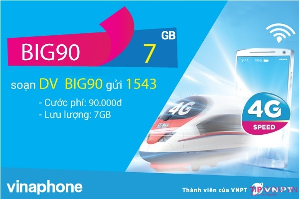 Hướng dẫn cách đăng ký gói cước BIG90 Vinaphone