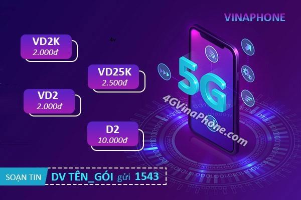 Bảng giá các gói cước 5G Vinaphone theo ngày