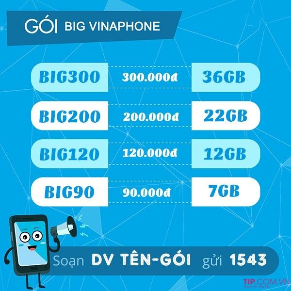 Ưu đãi 12GB data chỉ 120k khi đăng ký gói BIG120 Vinaphone