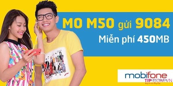 Đăng ký gói cước M50 Mobifone miễn phí 450MB data chỉ với 50k/tháng