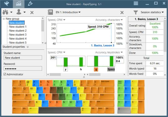 RapidTyping Portable – Phần mềm luyện đánh máy 10 ngón không cần cài đặt