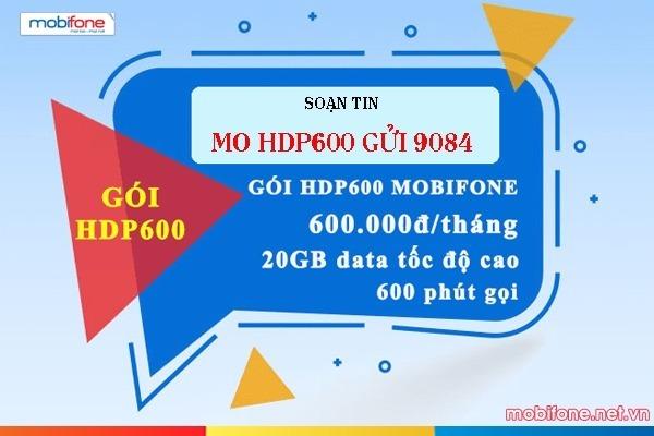 Cách đăng ký gói HDP600 Mobifone nhận ngay 20GB data và 600 phút gọi nội mạng