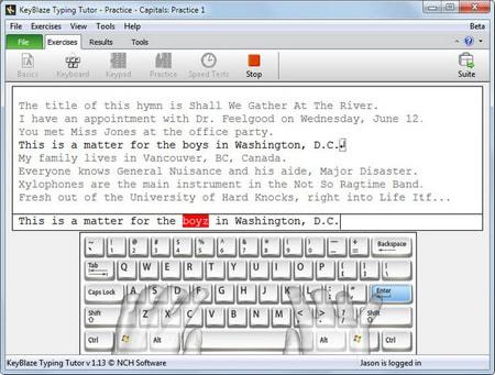 KeyBlaze Typing Tutor - Phần mềm luyện 10 ngón đơn giản